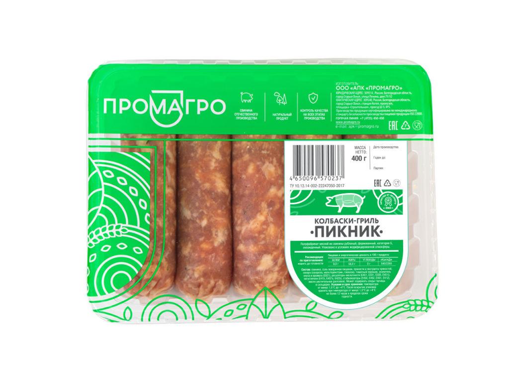 "Колбаски для гриля ""Пикник"" - продукция АПХ «ПРОМАГРО»"