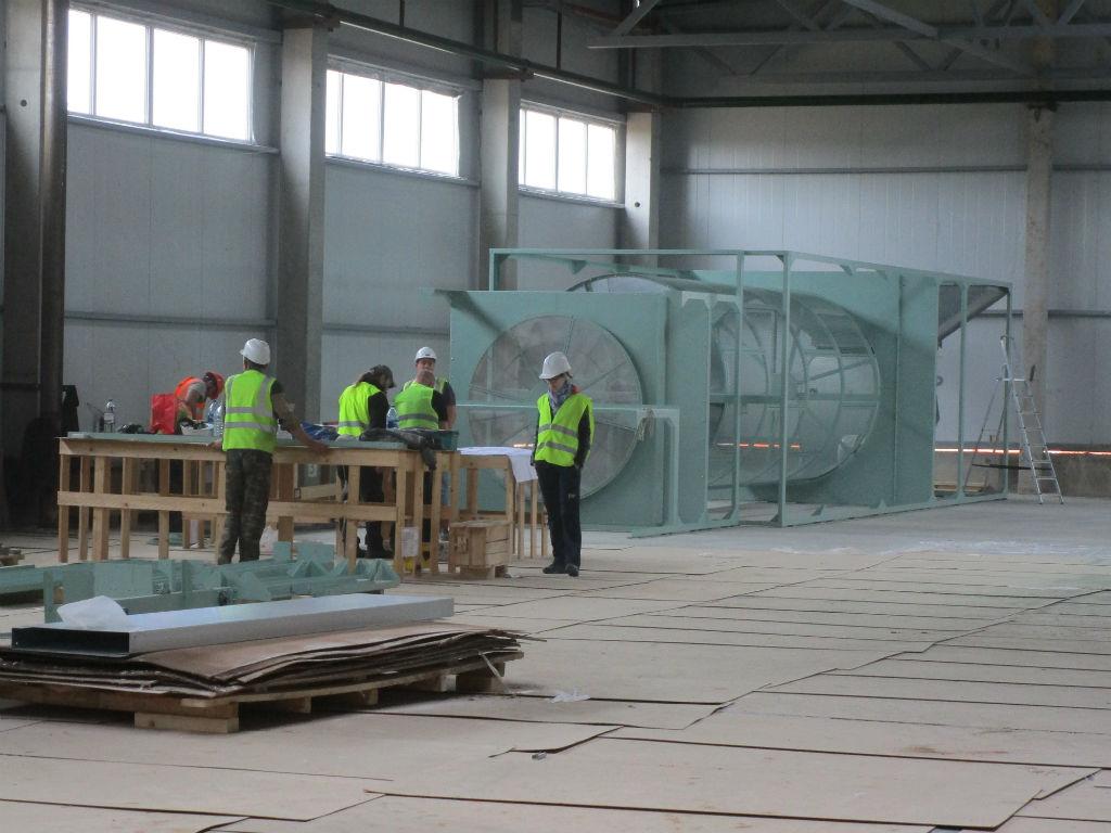 Установка оборудования на заводе «Русский Лён»